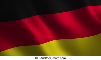 Germany flag waving 3d. Abstract background. Loop animation.