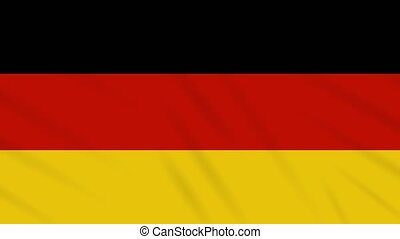 Germany flag waving cloth background, loop