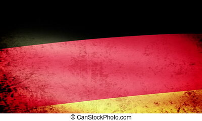 Germany Flag Waving, grunge look