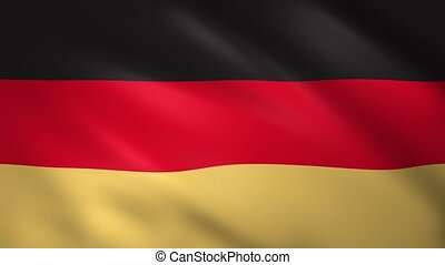 Germany flag waving in the wind