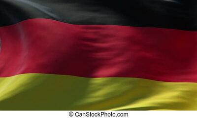 germany flag waving loop