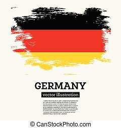 Germany Flag with Brush Strokes.