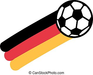 Germany flag with soccer ball