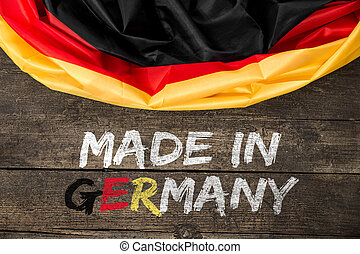Germany Flag with Text Made in Germany, concept german...