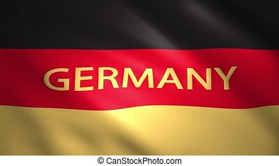 Germany flag with the name of the country