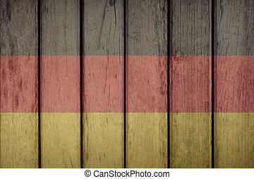 Germany Flag Wooden Fence