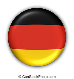 Germany Flag - World Flag Button Series - Europe - Germany...