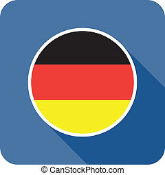 germany flat flag icon