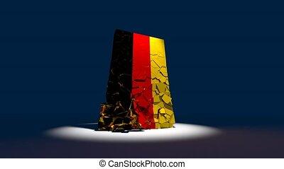Germany German collapse flag euro europe european