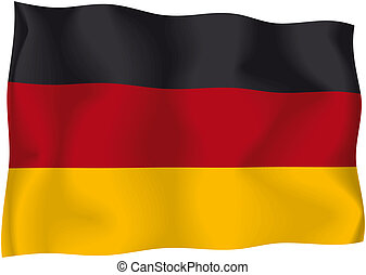 Germany - German flag - German wavy flag isolated on white...