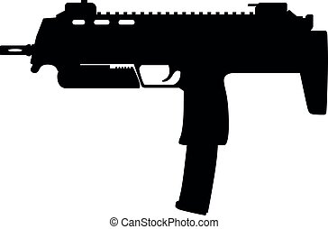 Germany German H&K HK MP7 fully automatic submachine gun, HK...