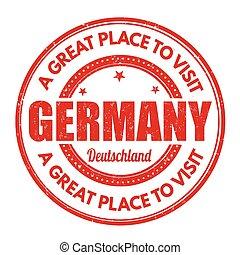 Germany grunge stamp