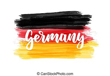 Germany - handwritten text on grunge flag