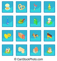 Germany icon blue app