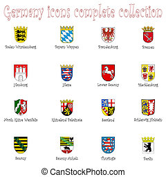 germany icons collection against white background, abstract...