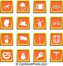 Germany icons set orange