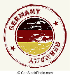 germany ink stamp