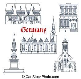 Germany landmarks architecture buildings, travel