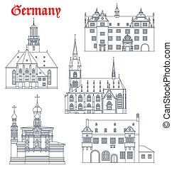 Germany landmarks architecture, German Darmstadt