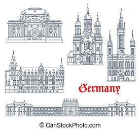 Germany landmarks architecture, German Wiesbaden