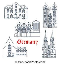 Germany landmarks architecture, travel Marburg
