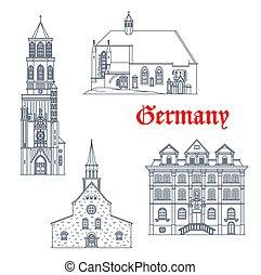 Germany landmarks German travel architecture icons