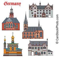 Germany landmarks, travel architecture, Darmstadt
