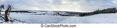 Germany landscape in winter