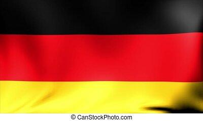 germany lobogó, háttér., stilizált, lobogó, közül, németország, noha, grunge, struktúra, háttér., eleven, hullámzás, nagy-britannia, lobogó, abstract.