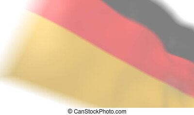 Germany map and flag.
