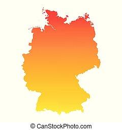 Germany map. Colorful orange vector illustration