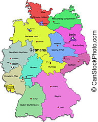 Germany map over white
