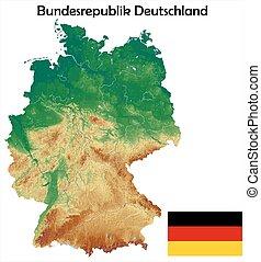 germany map flag coat