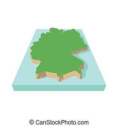 Germany map icon, cartoon style