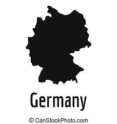 Germany map in black simple