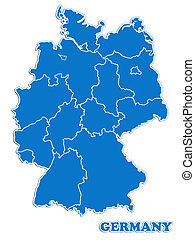 Germany map isolated over white background