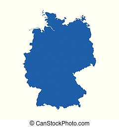 Germany Map on white background. Flat vector