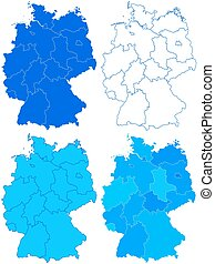 Germany map set - Map set of the Germany federation. All ...