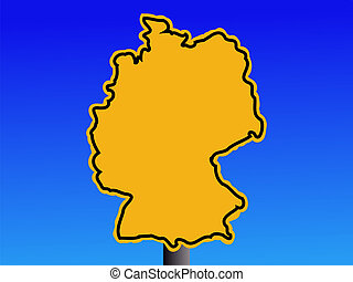 Germany map sign