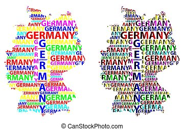 Cartoon Map Of Germany.Cartoon Colored Germany Map Icon In Comic Style Germany Sign