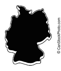 Germany map vector symbol icon