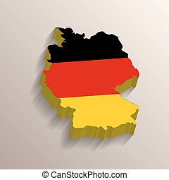 Germany map with flag on background