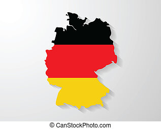 Germany map with shadow effect presentation