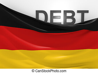 Germany national debt and budget deficit financial crisis.