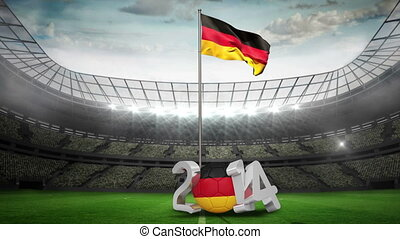 Germany national flag waving in foo