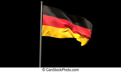 Germany national flag waving on fla