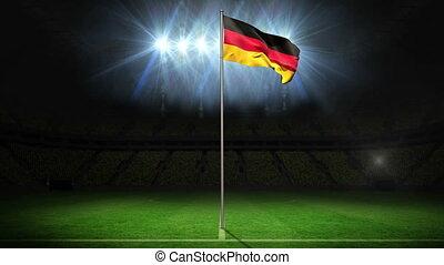 Germany national flag waving on fla