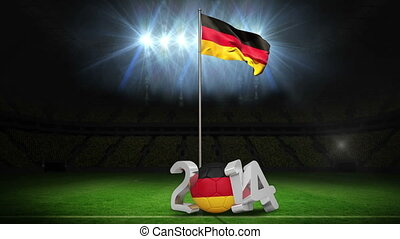 Germany national flag waving on foo