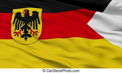Germany Naval Ensign Flag Closeup Seamless Loop
