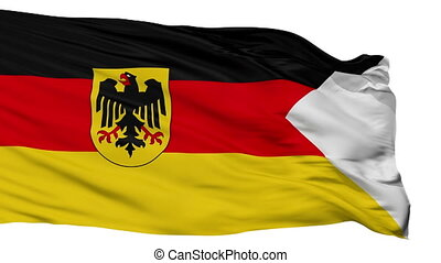 Germany Naval Ensign Flag Isolated Seamless Loop